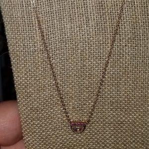 Chloe + Isabel Color Pop Ruby Rose Gold Necklace